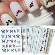 30 Sheets Nail Art Sticker DIY Butterfly Colorful Tips Nails Decal Manicure Tool