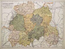 Irish Map QUEEN'S COUNTY LAOIS Ireland Portarlington Color PW Joyce 1905 9.5x7