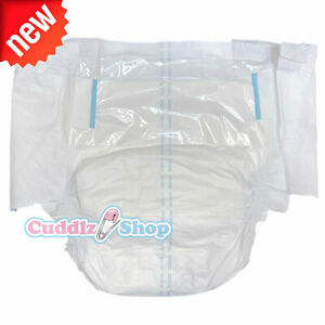 Pack of 2 DryDayz White Incontinence Adult Nappies / Diapers Medium Extra Large