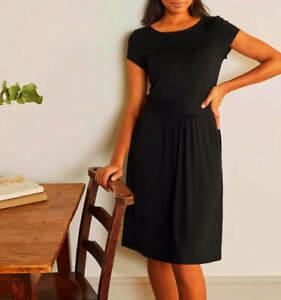 Boden Amelie Jersey Dress - Black J0326-BLA Size 16 New Without Tags