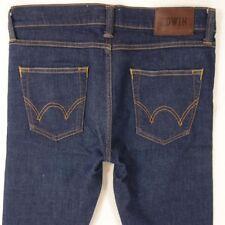 Mens EDWIN ED88 Stretch Super Slim Skinny Blue Jeans W32 L34