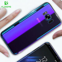 FLOVEME Blue Ray Gradient Case ultra thin cover for samsung galaxy S8 , S8 PLUS