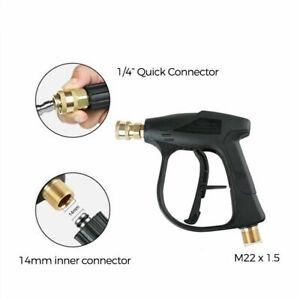 M22 20mm High Pressure Washer Trigger Gun Quick Release Water Jet Lance Car Wash
