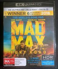 Mad Max Fury Road 4k Ultra HD Blu-ray Brand New & Sealed Blu Ray Movie FREE POST