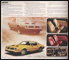1976 Pontiac Brochure Firebird LeMans Catalina Sunbird