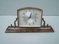 Vintage  desktop wind up clock chromed brass 8 day unusual   M18