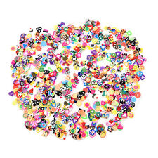 1000PCS 3D Fruit Animals Flower Fimo Slice Polymer Clay Nail Art Sticker Decor