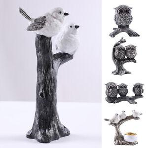 Owl Bird Eagle Flamingo Wild Animal Ornament Figurine Statue Garden Décor Home✅