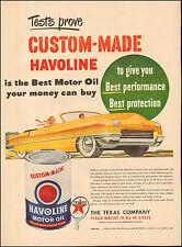 1950's Vintage ad for Havoline Motor Oil `Art Retro Car Emblem  ( 032117)
