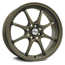 4-NEW Konig 72BZ Helium 15x6.5 4x100 +40mm Bronze Wheels Rims