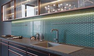 CUT SAMPLE: Green Bottle Ceramic Wall Tiles High gloss  - decor OR plain colour