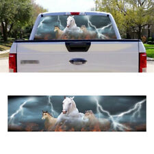 135×36CM Car Rear Window Sticker Decal Graphic Horse Fast Run Style Universal