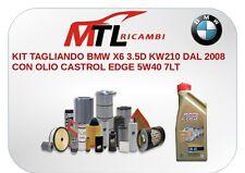 KIT TAGLIANDO BMW X6 3.5D KW210 DAL 2008 CON OLIO CASTROL EDGE 5W40 7LT