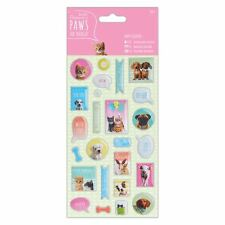 DoCrafts Puffy Stickers (27pcs) - Paws for Thought for cards and craft