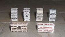 SET OF HAND-MADE DOLLS' HOUSE 1/12TH SCALE VICTORIAN MEDICINE BOXES.