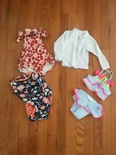 0-3 month Baby Girl swimsuits Bathing Suits Lot