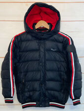 Kids Youth Boys DIESEL Down Jacket Full Zip Up Puffer Warm Coat Black Size 14