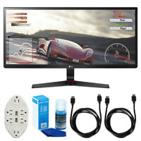 "LG 34"" 21:9 UltraWide IPS Gaming Monitor w/ FreeSync + Accessories Bundle"