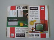 advertising Pubblicità 1966 RADIO GRUNDIG PRIMA BOY 207