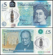 Great Britain (England) 5 Pounds, 2016, P-NEW, UNC, Polymer, Queen Elizabeth II