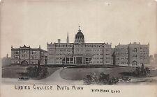 D49/ Mankato Minnesota Mn Real Photo RPPC Postcard c1910 Ladies College