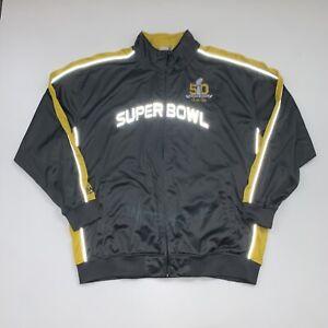 Majestic NFL Football Superbowl 50 Track Jacket Size Men's 3XL