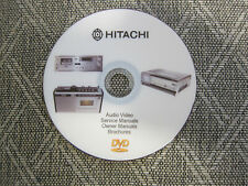 Hitachi Audio Repair Service Schematics manuals on dvd in pdf format