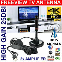 200Miles 1080P Indoor Digital TV HDTV Antenna UHF/VHF Skywire 4K Antena Booster