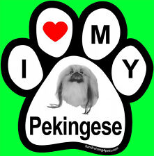 I Love <3 My Pekingese - Paw Magnet,Dog Cat Pet Rescue Charity