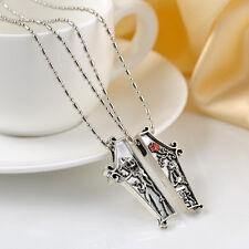 Retro The Nightmare Before Christmas Necklace Pendant Jack & Sally JEWELRY 2PCS