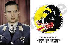 aviation art pilot postcard colour WW2 Hajo Hermann KG 30 Luftwaffe Ju 88