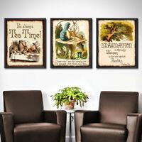 Alice in Wonderland ~ Set of 3 Posters Wall Art Wedding Decor Party Wedding 279