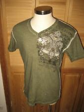 Raw State Premium Dance Angel Double Sided V Neck Whipstitched T Shirt XL Mint
