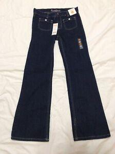 Gymboree Girls Jeans. Size 12. Bootcut. Adjustable Waist. Bowtie Pockets. NWT!