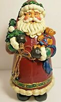 Plastic Resin Santa Figurine 9 Inches Tall