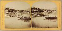Suisse Brienz E Il Lac Foto Gabler Stereo Vintage Albumina Ca 1868