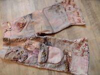 TOFF TOGS schöne rosa bunte Cordhose gefüttert Gr. 92 NEUw. ST817