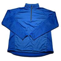 Nike Golf Men's Size Large 1/4 Pullover Long Sleeve Zip Hood Blue