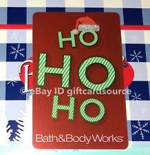 BATH & BODY WORKS GIFT CARD HO HO HO GLITTER SANTA HAT HOLIDAY 2018 NO VALUE NEW