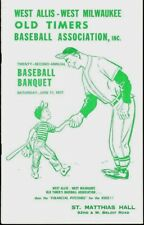 OLD TIMERS BASEBALL 1977 Program with 10 In-person Autographs