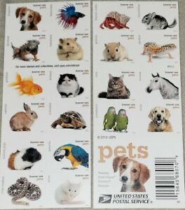 *Mint US 5125a Forever Stamps. Pets 2016 MNH booklet of 20