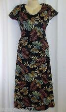 Tori Richard XS Hawaiian Dress Long Leaf Long Vacation Sun Cruise Cotton Maxi