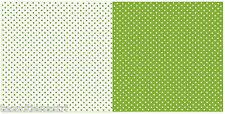 Tessuto a pois verdi bianchi stoffa cucito creativo cotone 100% cm 50 x 150