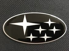 BONNET GRILL BADGE STICKER BLACK & WHITE STARS DOMED PLASTIC NEWAGE 2001-07