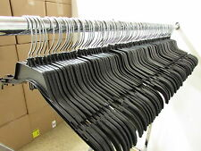 "Lot of 120 Black Plastic Adult Clothes Shirt Hangers 17"" wide **FREE SHIPPING**"