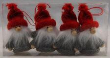 Scandinavian Swedish Christmas Tree Ornaments ~ Pkg of 4 Santa Gnome Tomte