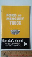 1964 FORD & MERCURY Trucks/850-1100 - Original Owner's Manual  Guide