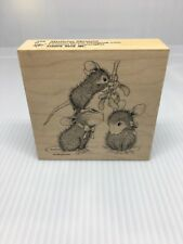 MISTLETOE MOMENT MW RUBBER STAMP-STAMPA ROSA HOUSE MOUSE