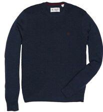 BNWT Original Penguin Basket Weave Jumper M Dark Sapphire Blue Merino Wool £85