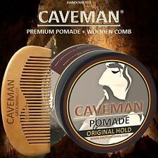 Handcrafted Caveman® Pomade (Hair) Original Hold Rockabilly 4oz. + FREE Comb